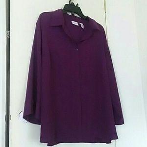 Covington Purple Sheer Blouse size 26 plus